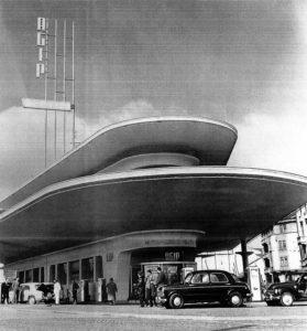 Stazione Eni di Piazzale Accursio, 1955, ph. Aldo Ballo