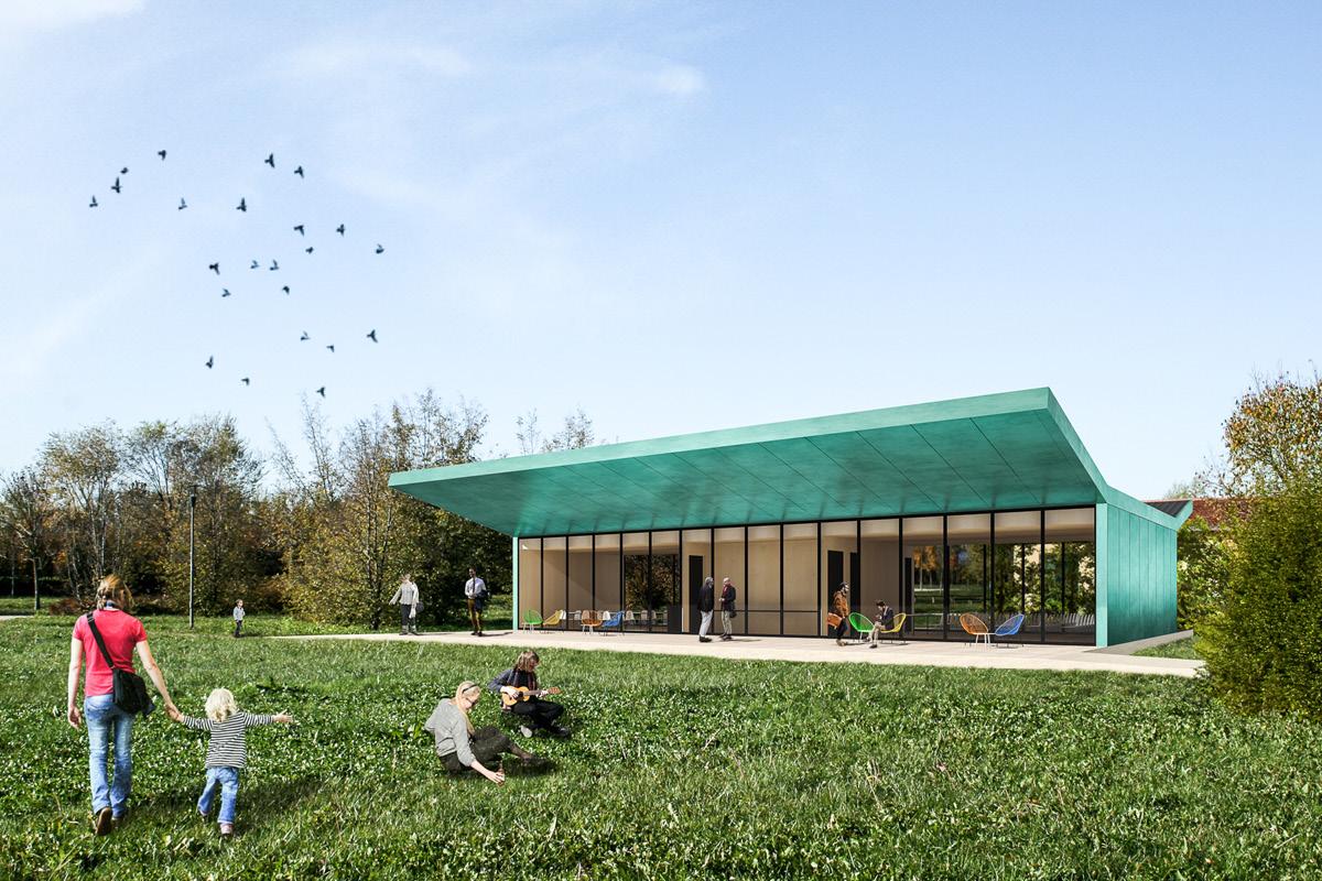 Un padiglione al parco della trucca marco mazzola for Piani di progettazione del padiglione